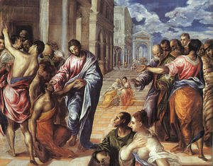 The Miracle of Christ Healing the Blind 1575