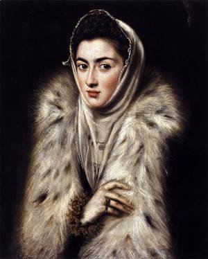 El Greco - A Lady in a Fur Wrap 1577-80