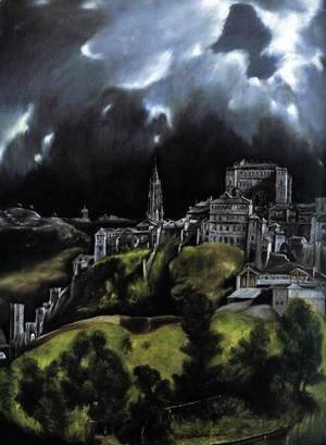 El Greco - View of Toledo (detail) 1597-99