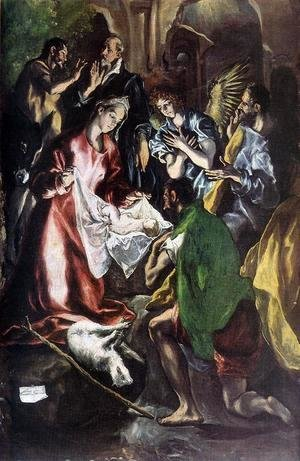 El Greco - Adoration of the Shepherds (detail) 1596-1600