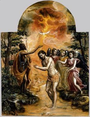 El Greco - Baptism of Christ 1568