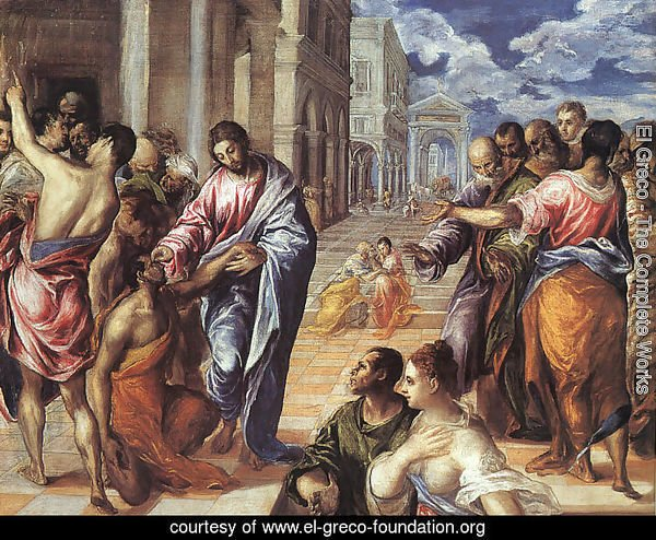 Christ Healing the Blind 1570s