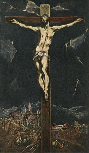 El Greco - Christ in Agony on the Cross 1600s