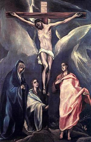 El Greco - Christ on the Cross with the Two Maries and St John c. 1588