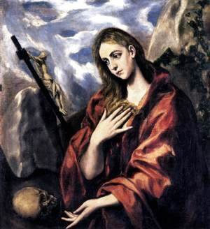 El Greco - Mary Magdalen in Penitence 1585-90