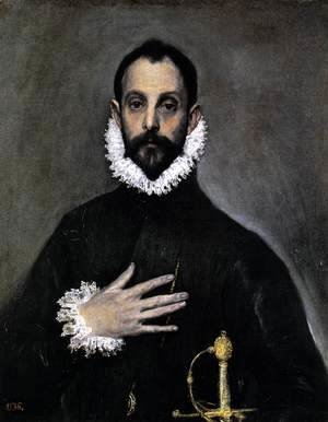 El Greco - Nobleman with his Hand on his Chest 1583-85