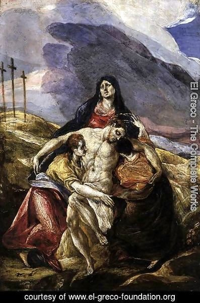 El Greco - Pieta (The Lamentation of Christ) 1571-76