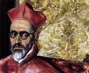 El Greco - Portrait of a Cardinal (detail) c. 1600
