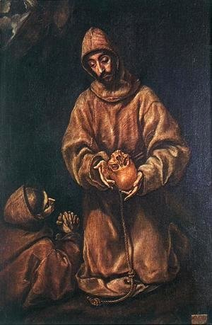 El Greco - St Francis and Brother Rufus 1600-06
