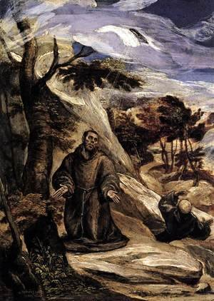 El Greco - St Francis Receiving the Stigmata 1570-72