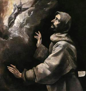 El Greco - St Francis Receiving the Stigmata 1585-90