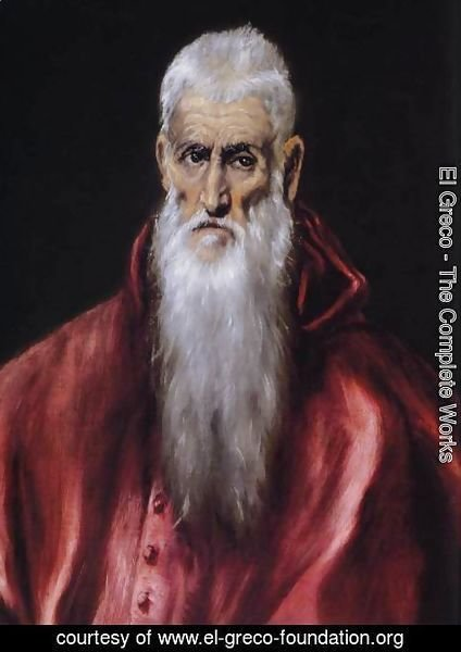 El Greco - St Jerome as a Scholar (detail) 1600-14