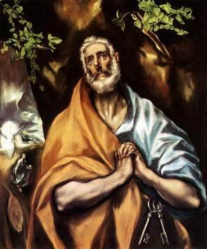 El Greco - St Peter in Penitence c. 1605
