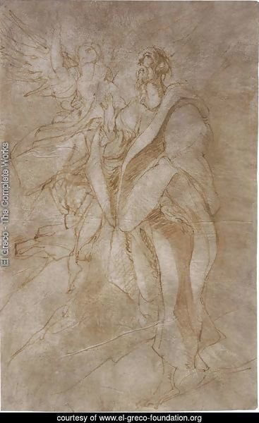 Study for St John the Evangelist and an Angel 1596-99