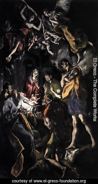 El Greco - The Adoration of the Shepherds c. 1614