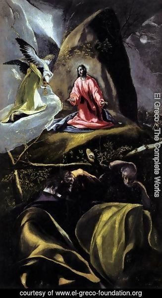 El Greco - The Agony in the Garden 1600-05