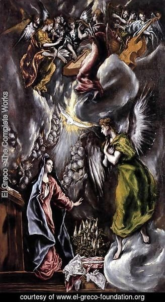 El Greco - The Annunciation 1597-1600
