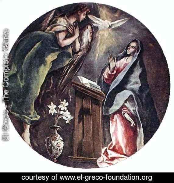 El Greco - The Annunciation 1603-05