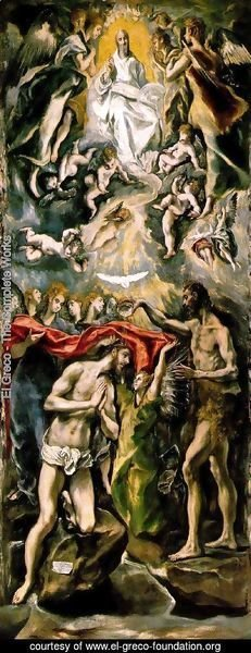 El Greco - The Baptism 1596-1600