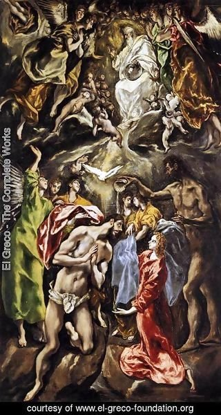 El Greco - The Baptism of Christ 1608-28