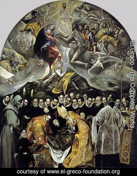 El Greco - The Burial of the Count of Orgaz 1586-88