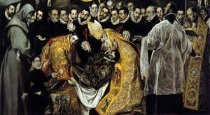 El Greco - The Burial of the Count of Orgaz (detail 1) 1586-88
