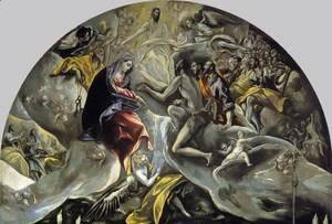 El Greco - The Burial of the Count of Orgaz (detail 2) 1586-88