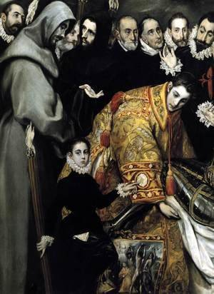 El Greco - The Burial of the Count of Orgaz (detail 3) 1586-88