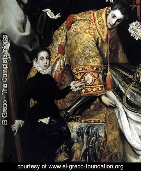 El Greco - The Burial of the Count of Orgaz (detail 4) 1586-88