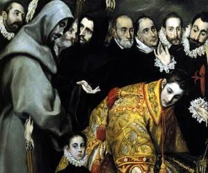 El Greco - The Burial of the Count of Orgaz (detail 5) 1586-88