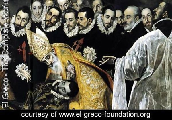 El Greco - The Burial of the Count of Orgaz (detail 6) 1586-88