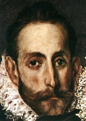 El Greco - The Burial of the Count of Orgaz (detail 7) 1586-88