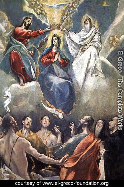 El Greco - The Coronation of the Virgin (2)  1591