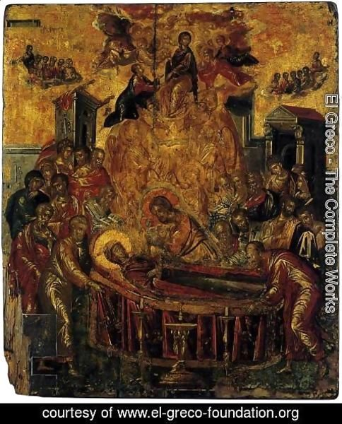 El Greco - The Dormition of the Virgin before 1567