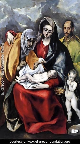 El Greco - The Holy Family 1586-88