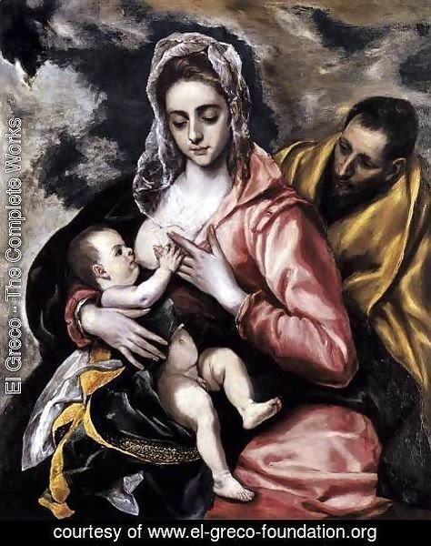 El Greco - The Holy Family c. 1585