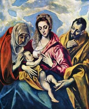 El Greco - The Holy Family c. 1595