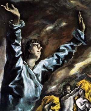 El Greco - The Opening of the Fifth Seal (detail 1) 1608-14