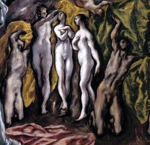 El Greco - The Opening of the Fifth Seal (detail 2) 1608-14