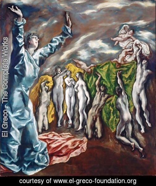 El Greco - The Opening of the Fifth Seal (The Vision of St John) 1608-14