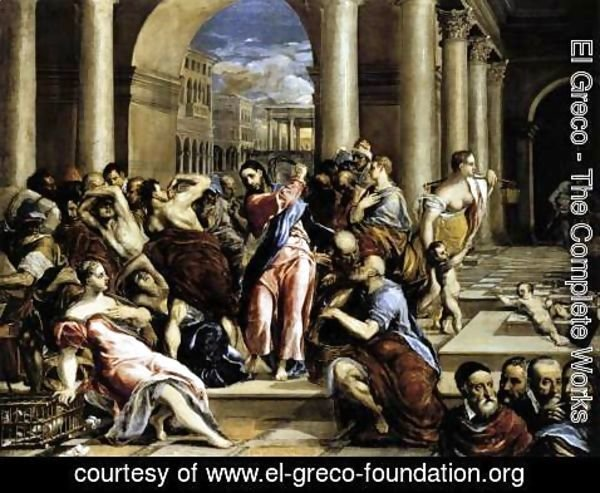 El Greco - The Purification of the Temple 1571-76