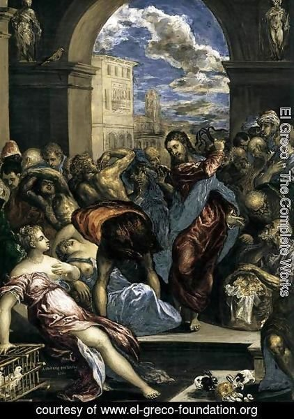 El Greco - The Purification of the Temple (detail) c. 1570