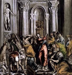 El Greco - The Purification of the Temple after 1610