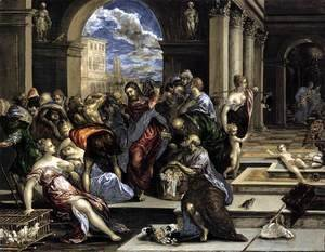 El Greco - The Purification of the Temple c. 1570