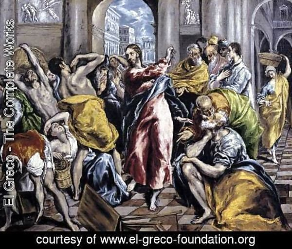 El Greco - The Purification of the Temple c. 1600