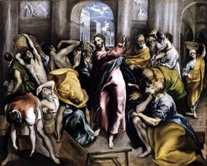 El Greco - The Purification of the Temple (2)  c. 1600