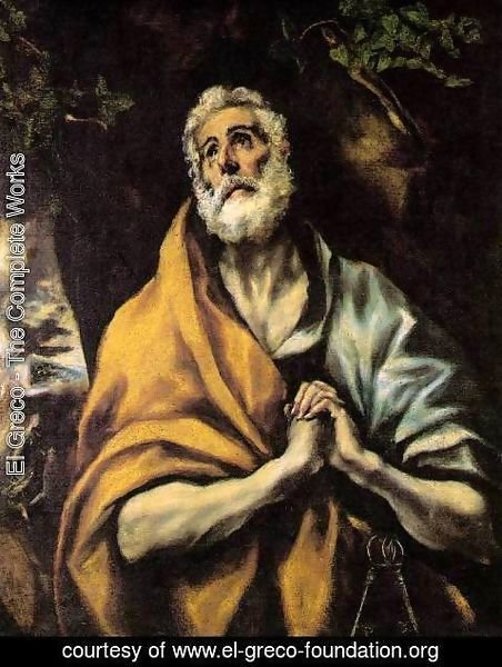 El Greco - The Repentant Peter c. 1600