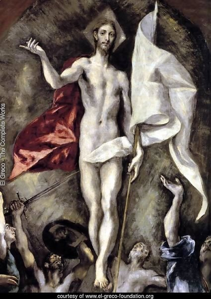 The Resurrection (detail 1) 1596-1600