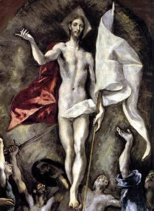 El Greco - The Resurrection (detail 1) 1596-1600