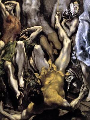 El Greco - The Resurrection (detail 2) 1596-1600